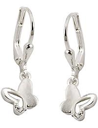 Echt 925 Silber Hänger Einhänger Brisuren Ohrringe Ohrhänger Creolen 37 mm
