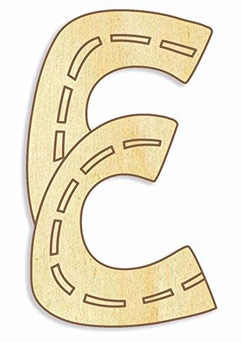 Farbklecks Collection Holzbuchstabe Fahrzeuge E - 10cm Höhe - Buchstabentiere - Holzbuchstaben - Holz-Buchstabe