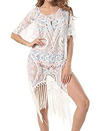 Blouses & Shirts Ladies Women Beach Cover Up Tops Kaftan Sarong Summer Wear Swimwear Bikini Summer Blouse V Neck Shortsleeve Smock Casual High Resilience