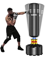 Dripex Boxsack Erwachsene Freistehender Standboxsack MMA Boxpartner Boxing Trainer Heavy Duty Boxsack mit Saugfu/ß mehrere Farbe