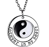 Collier - Pendentif - Yin Yang - Tao - Forever in My Heart - pour Toujours dans Mon...