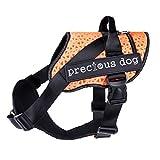 njhswlti Brustgurt für Hunde mit Tierbedarf explosionssicheres Netzstoff atmungsaktives Zugseil orange, M