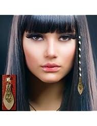 Extensions médiévales et celtique pour cheveux. SPIRALE POUR CHEVEUX.  LONGUE SPIRALE PIERRE NACRE et