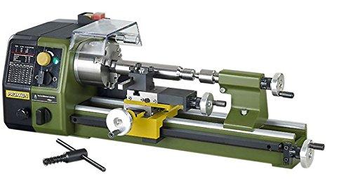 Proxxon Präzisionsdrehmaschine PD250/E, hochwertige Drehbank für die Stahl-, Messing- und Aluminiumbearbeitung, max. 250 mm Werkstücklänge, Art.-Nr. 24002