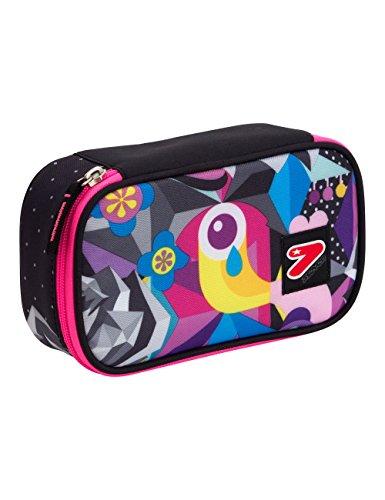 Portapenne big scuola seven the double - black rose - multicolore - porta penne