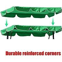 dDanke - Toldo de Repuesto para Silla de jardín de 195 x 125 cm, Resistente a los Rayos UV, Resistente al Agua, para Patio, al Aire Libre, 3 plazas, Columpio, Verde