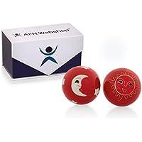 Meditation Qi-Gong-Kugeln mit Klangwerk | Klangkugeln | Yin Yang | Design Sonne und Mond rot | verschiedene Durchmesser... preisvergleich bei billige-tabletten.eu
