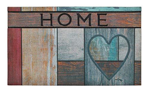 andiamo Gummifußmatte Fußabtreter Sauberlaufmatte - 100{4b0e63662e15685bcf39dfb892df0aa18860d12d1be8d5feec45f35aa6d618d9} Gummimaterial Anti-Rutsch Funktion Outdoor - 45 x 75 cm, Größe:45 x 75 cm, Farbe:Wooden Heart