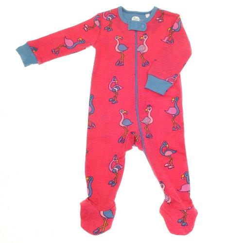 Grenouillère pour bébé fille avec fermeture éclair - Rose - 0-3 mois