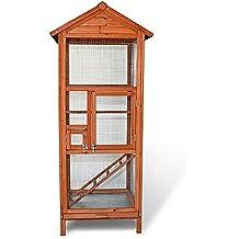 """ZooPrimus Hühner-Stall Nr 030 Geflügel-Voliere """"VOGELVOLIERE-M"""" Enten-Haus für Außenbereich (Geeignet für Kleintiere: Hühner, Geflügel, Vögel, Enten usw.)"""