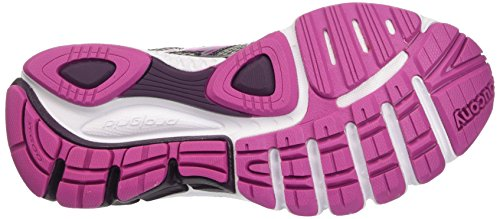 Saucony Damen Jazz 18 W' Trainingsschuhe, Rosa/Giallo, 37 EU Multicolore (Silver/Purple/Fucspa)