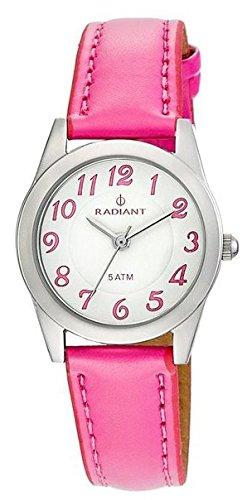 Radiant new natural orologio Unisex Analogico al Al quarzo con cinturino in Pelle di vitello RA161608