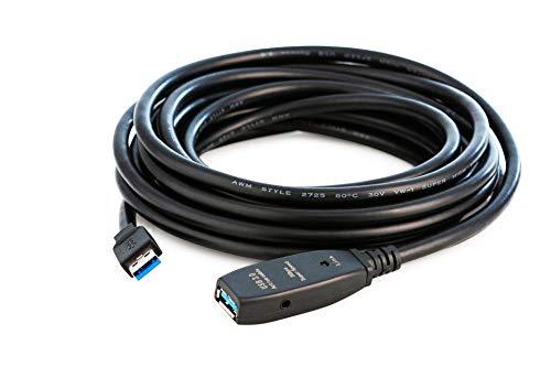 MutecPower 5m USB 3.0 Aktiv Kabel männlich zu weiblich - Kabel mit Verlängerung Chipsatz - Repeater-/Verlängerungskabel - 5 Meter (Männlich Weiblich Usb)