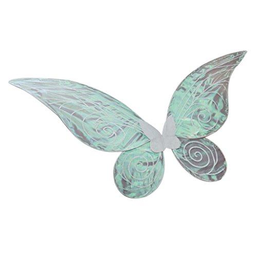 Kostüm Schmetterlingsflügel Weiße (MagiDeal Farbverlauf Schmetterling Flügel - Feen Kostüm Kinder Erwachsenen - Weiß, 62cm *)