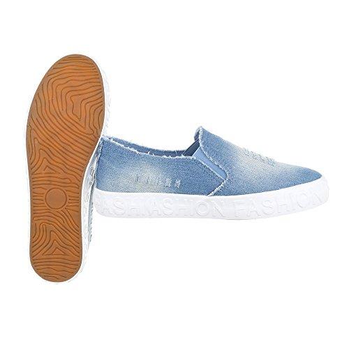 Dintérieur Pantofole Donna Kk 18 Hellblau design Ital 8q0R4S