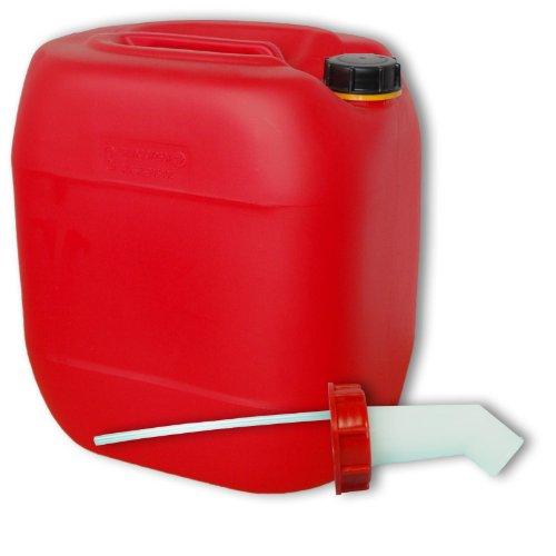 30 Liter rot Kanister mit Schnellausgießer (DIN 61)
