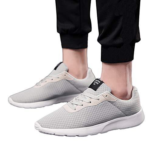 MYMYG Damen Sneaker Turnschuhe Outdoor Mesh Schuhe Casual Soft Bottom Lace-Up Bequeme Laufschuhe Leicht Laufschuhe Atmungsaktiv...