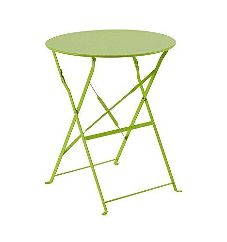Table Camargue ronde 2 personnes Hesp/éride vert granny