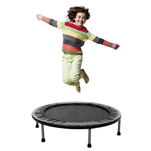Busyall mini trampolino elastico pieghevole per adulti e bambini unisex da giardino fitness casa professionale, diametro 96 cm, peso massimo 100kg【eu stock】