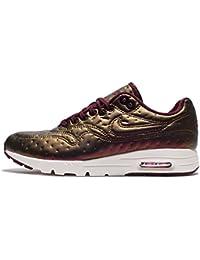 Nike W Air Max 1 Ultra Premium Jacquard Womens Sneaker Silver 861656 001 (7. 5 B(M) US, Metallic Mahogany Night Maroon 900)