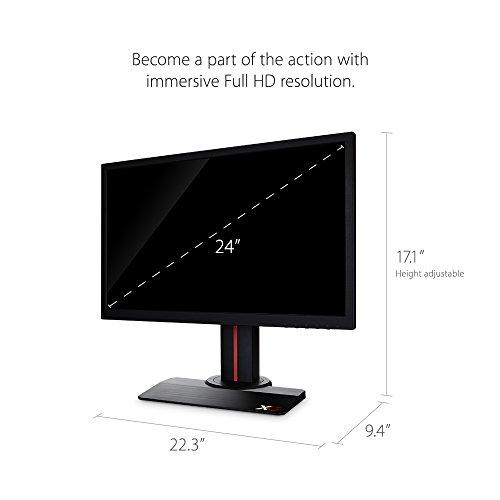 ViewSonic XG2402 24 inch comprehensive HD Gaming Monitor using AMD FreeSync 144Hz 1ms 1080p HDMI DisplayPort sound system Black Products