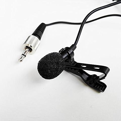 Cardioid Tie Clip sur lavalier Microphone Mic pour Divers Sennheiser Transmetteur sans fil Bodypack (3.5mm Mono Locking Jack Plug)