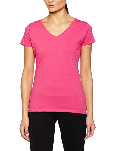 Fruit of the Loom Damen T-Shirt Ss045m Light Pink