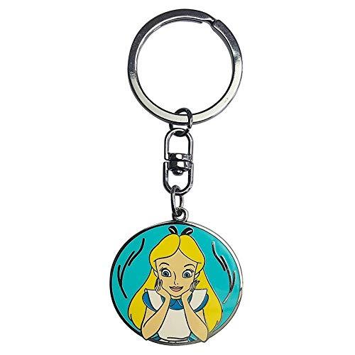 Alice im Wunderland Disney Metall Schlüsselanhänger - Alice (Katze Im Hut-deluxe Kostüm)