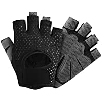 Übung Handschuhe Fäustlinge Schwarz Anti-Rutsch Frauen Gewichtheben Heiß