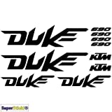 SUPERSTICKI 690 Duke Aufkleber A1 Sponsorset 4667 ca. 30x20cm Aufkleber Bike Auto Racing Tuning aus Hochleistungsfolie Aufkleber Autoaufkleber Tuningaufkleber Hochleistungsfolie für al