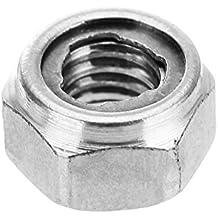 Rishil World Suleve M4SN2 10Pcs M4 304 Stainless Steel Hex Self Locking Nuts Anti Loose All Steel Insert Lock Nuts