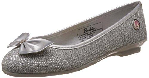 Barbie Girl's Silver Espadrille Flats - 12 kids UK/India (31 EU)