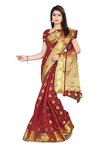 Fashionara Premium Jacquard Silk Saree Design With Jari Work And Half Sleeves...