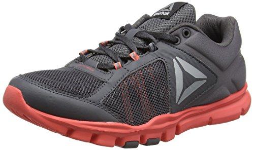 Reebok Women's Yourflex Trainette Fitness Shoes, Grey (Ash Grey/Fire Coral/White/Silver Metallic/Grey/Black), 7.5...