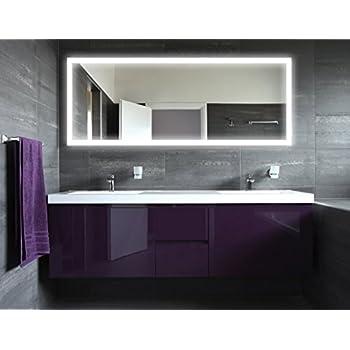 spiegel badezimmer badspiegel mit beleuchtung new york m303l4 design fa 1 4 r beleuchtet led badezimmerspiegel und uhr