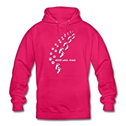 Spreadshirt Never Walk Alone Cute Dog Owner Quote Unisex Hoodie
