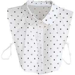 Detachable Faux Fake Lapel Shirt Collar Necklace Removable Choker - cuello postizo de camisa