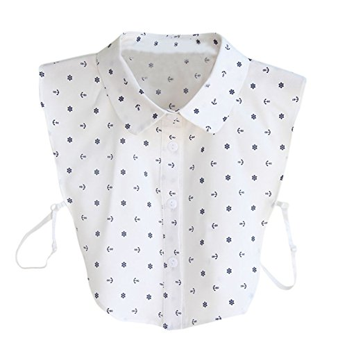 Yalatan Damen Detachable Shirt Collars Accessories Polka