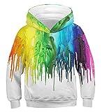 Idgreatim Teenager Pullover Hoodies 3D Planet Sweatshirt Retro Lustige Teenager Pullover Kapuzenpullover M