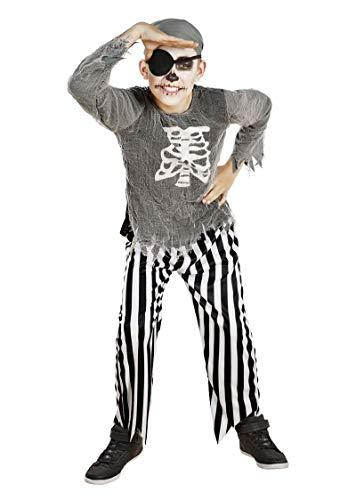 Unbekannt Halloween Fasching Karneval Kostüm Geister Pirat - Gr. M 140 (7-10 Jahre)