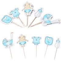 LnLyin - 20 decoraciones para cupcakes, decoración para fiesta de bebé, cupcakes, púas