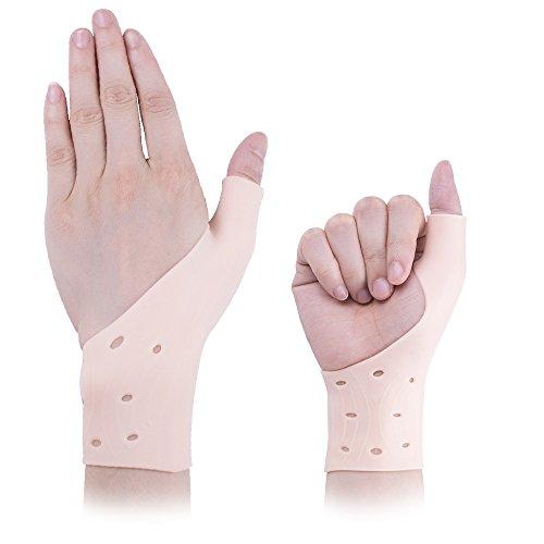Protezioni per polso maniche polso cinturino plantari schermo per tunnel carpale morbida in gel silicone gel maniche mani per computer lavoro e esercizio
