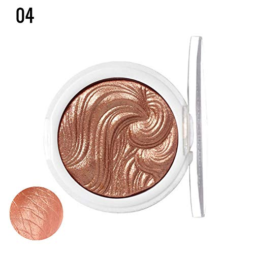 Webla 1pc Palette Highlight Poudre de Bronzante Unicolore de Couleurs Simples Nouvelle Poudre de Maquillage Haut miroitement Professionnelle (04)