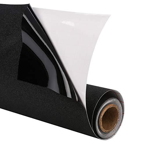 Magicfly Fensterfolie Schwarz Blickdicht Sichtschutzfolie selbstklebend statisch Anti-UV 90 x 200 cm für Schlafzimmer Badezimmer Black