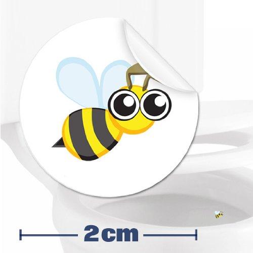 Toilettenhilfe für Kinder Säuglinge Jungs Lustige Badezimmer Bad Töpfchen Pinkelhilfe 10 x Biene Zielhilfe Aufkleber (2 cm)