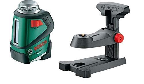 Bosch Linienlaser PLL 360 Set (mit Stativ, Arbeitsbereich 20 m, im Karton) + Multi-Halterung MM1 (Regulierbare Höhe 0-5 cm, im Karton)