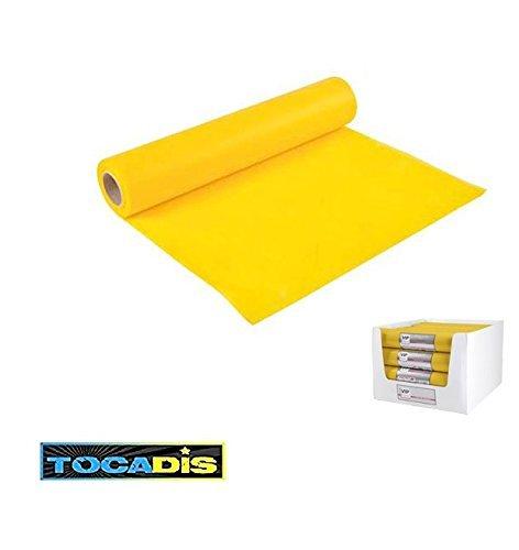 chemin-de-table-effet-tissu-33-x-48cm-13-couleurs-differentes-tocadis-jaune