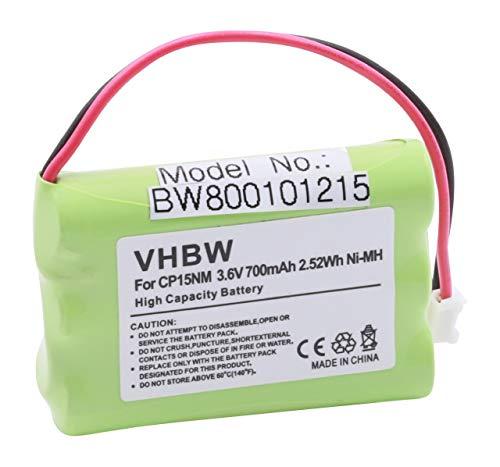 vhbw Ni-MH Akku 700mAh (3.6V) für Telefon Handy Alcatel GapBilbao 570, Comfort, Easy, Vocal wie NTM/BKBNB 101 13/1, CP15NM, BKBNB 10109/1R1A.