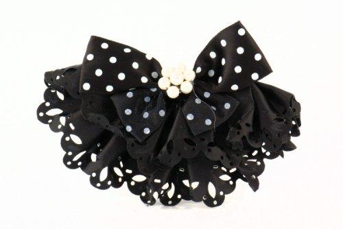 Spilla gioielli pin perle monili signore di - , spilla costume nero arco con