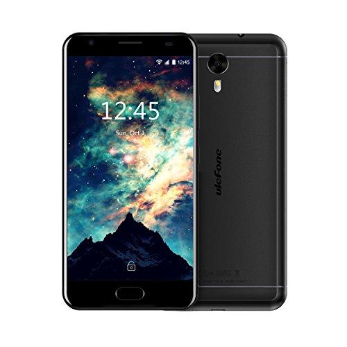 Ulefone Power 2 Smartphone ohne Vertrag (5.85u0022 18:9 FHD Display, 4G Dual-SIM, 4GB RAM, 64GB Interner Speicher, Dual-Hinterkamera, 6050mAh großer Akku mit Schnellladung, Android 7.1) schwarz